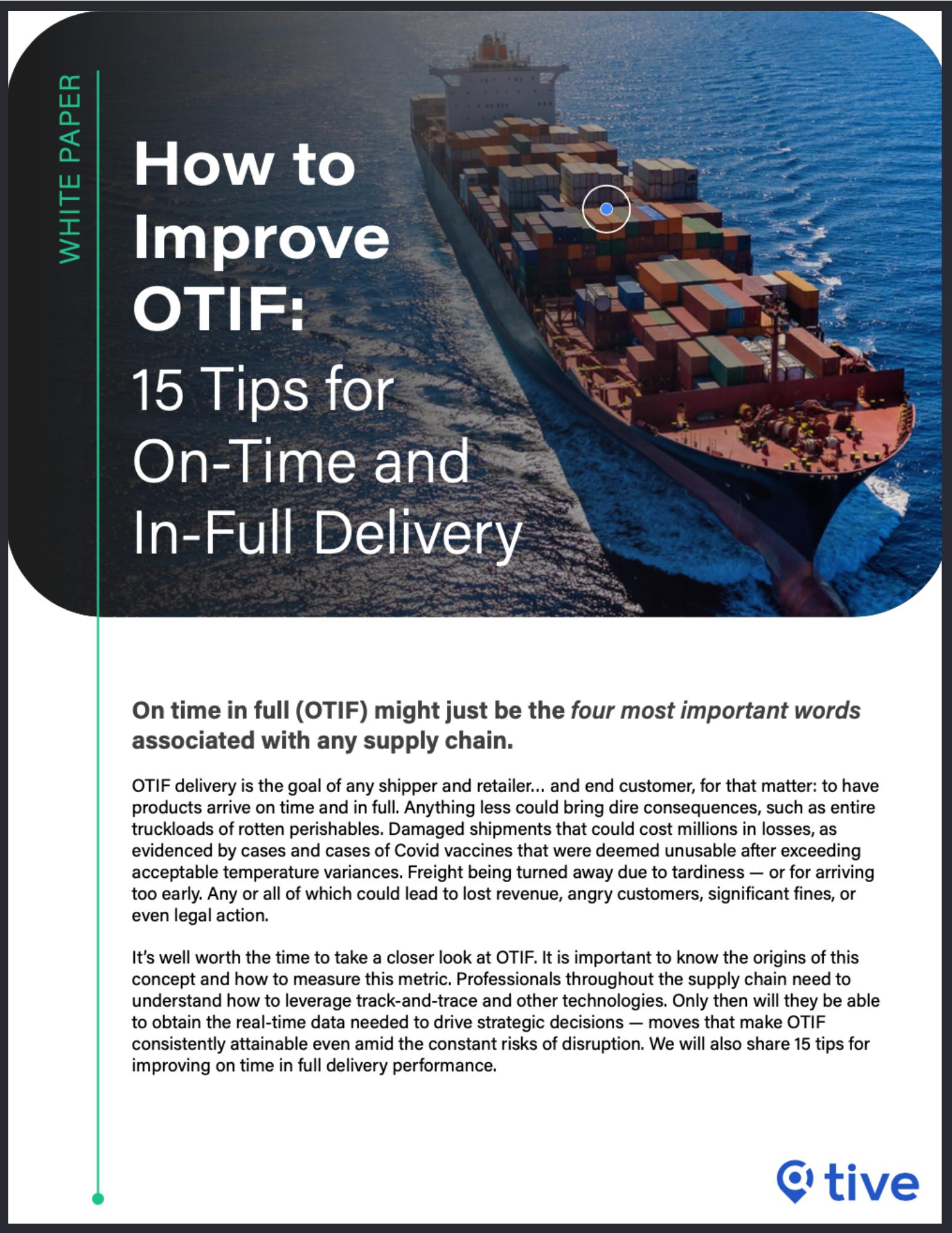 OTIF 15 Tips